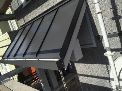 custom sheet metal roofing example   Robinson Roofing